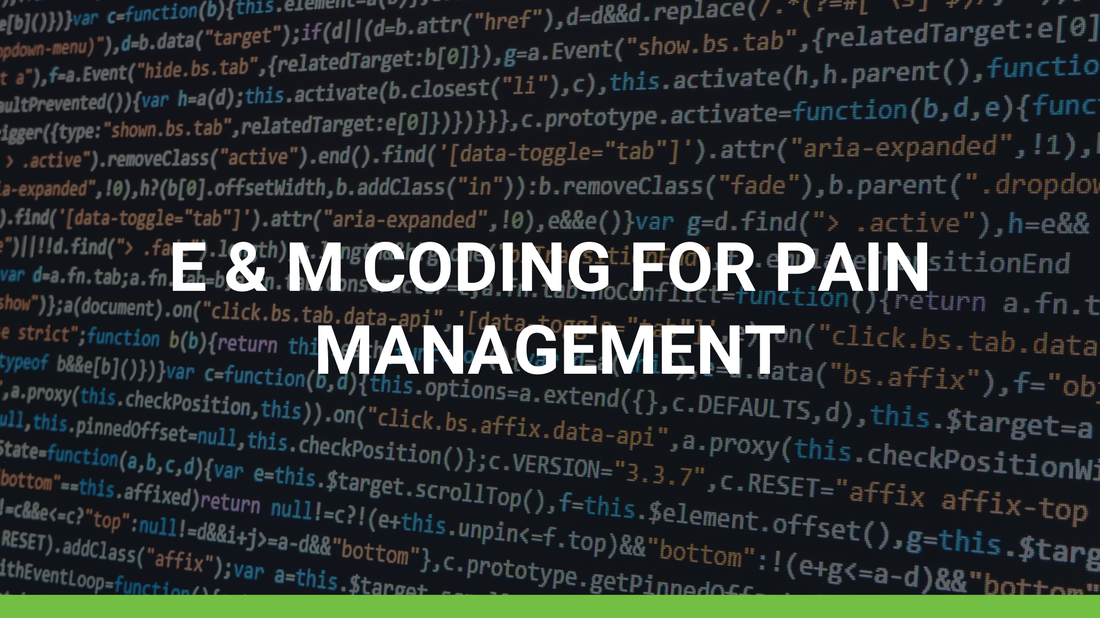 E & M Coding for Pain Management
